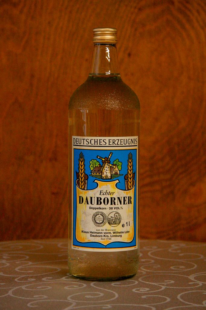 Echter Dauborner Doppelkorn, Flasche, 38% vol.